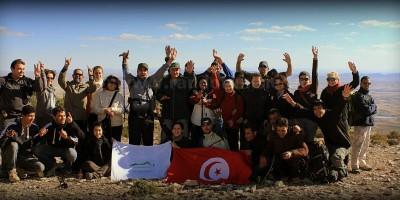 Photo de groupe sur le sommet de Djebel Habbes