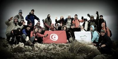 Le groupe à Djebel Serj (1357m)